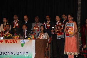 Receiving the Bharat Excellence Award