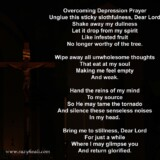 22. Overcoming Depression Prayer